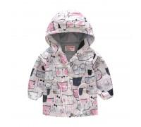 Куртка-ветровка для девочки Кошачья мордочка