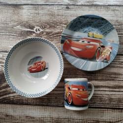 Набор детской посуды ST McQueen 3 предмета