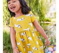 Платье для девочки Кролик с морковкой
