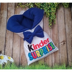 Конверт на выписку Kinder синий фото