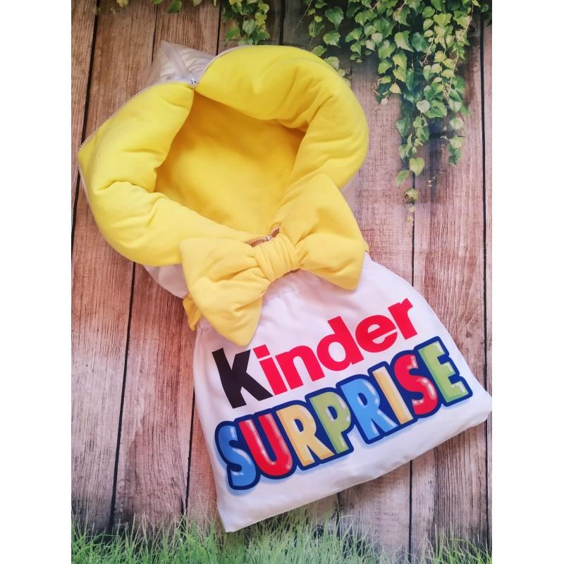 Конверт на выписку Kinder желтый фото