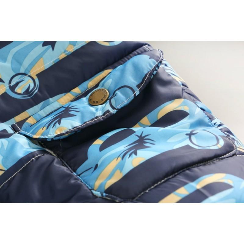 Демисезонная куртка для мальчика Голубая машина
