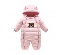 Комбинезон демисезонный для девочки Тедди, розовый