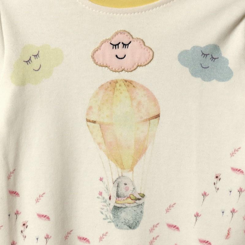 Человечек детский Желтый воздушный шар