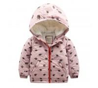 Куртка для девочки Ежики
