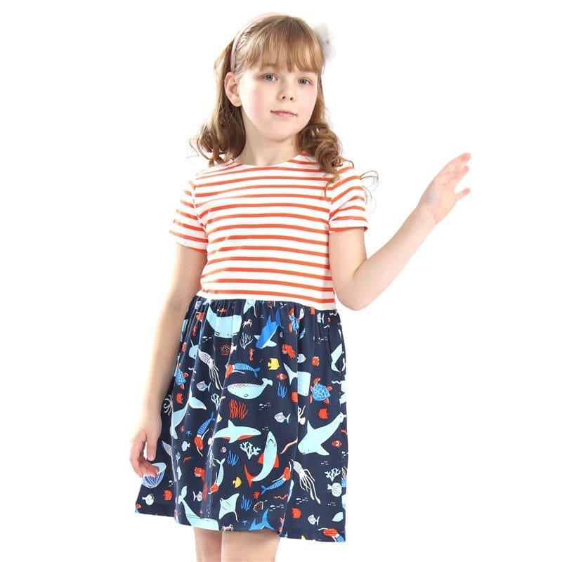 Платье для девочки Морское царство