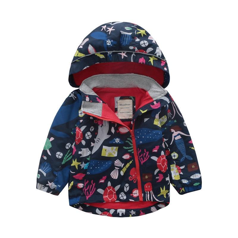 Куртка для девочки Море