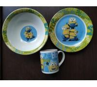 Набор посуды фарфор Интерос Миньйон 3 предмета