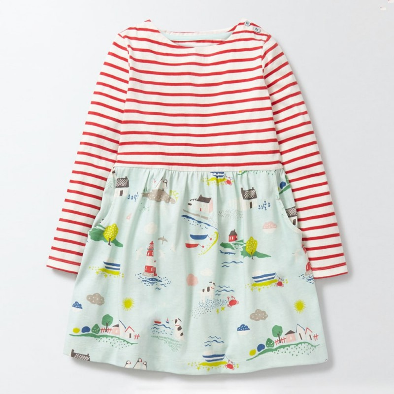 Платье для девочки Море