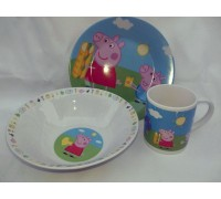 Комплект посуды Интерос PEPPA PIG фарфоровый