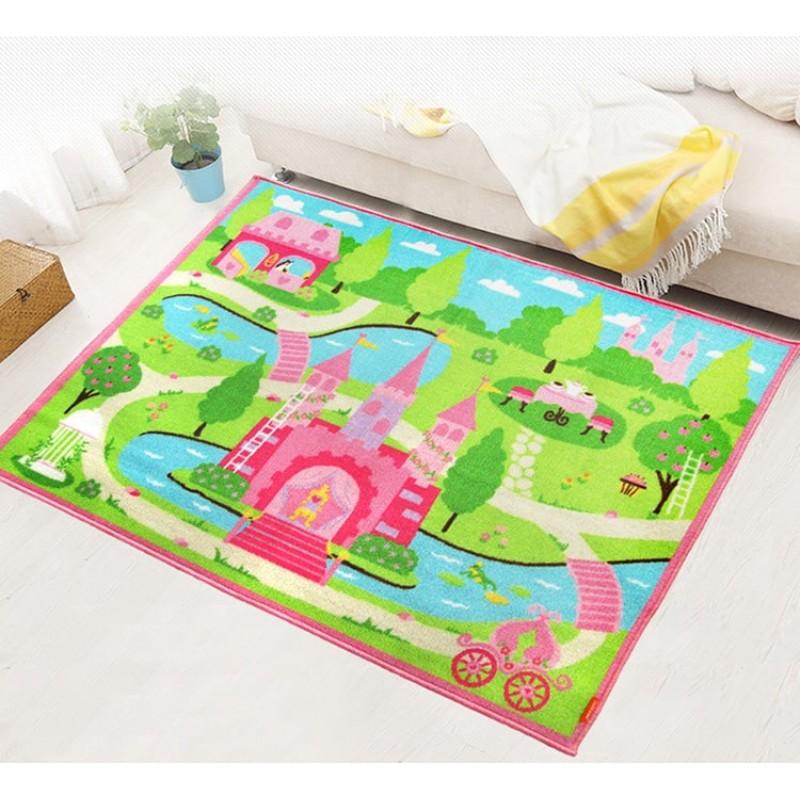 Коврик для детской комнаты Замок принцессы 100 х 130 см