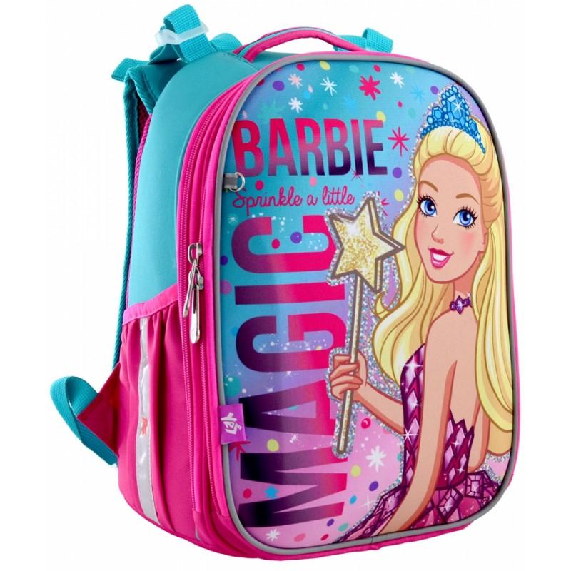 Рюкзак школьный каркасный Barbie фото