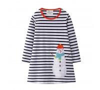 Платье для девочки Праздничный снеговик