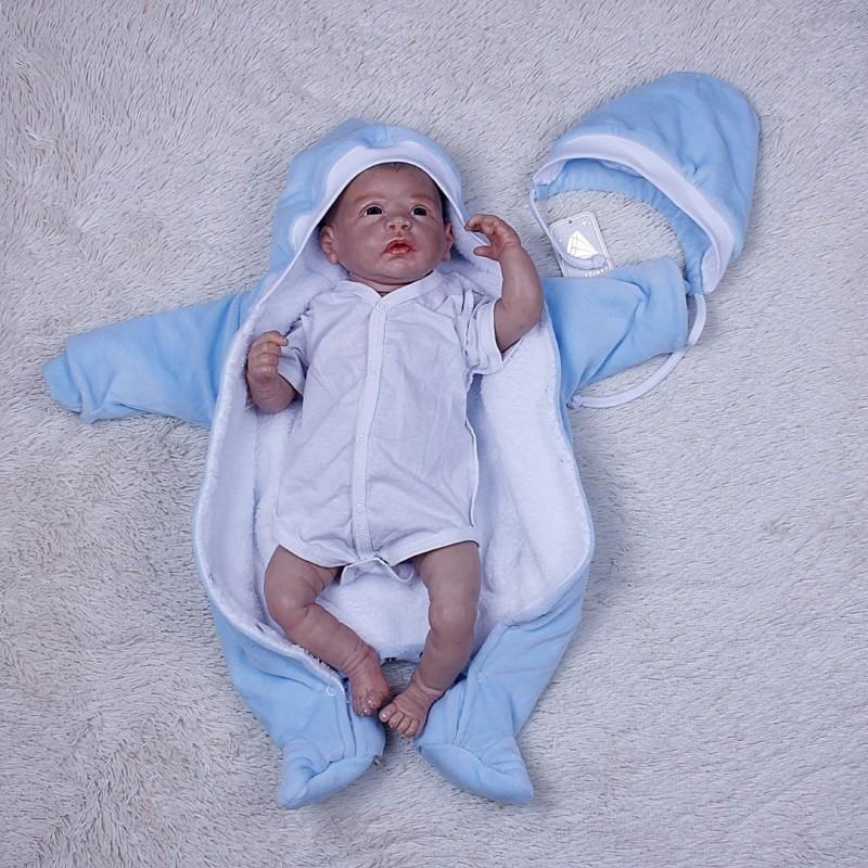 Комбинезон новорожденному голубой