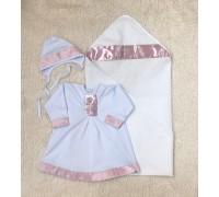 Крыжма и рубашка Ангел (розовая)