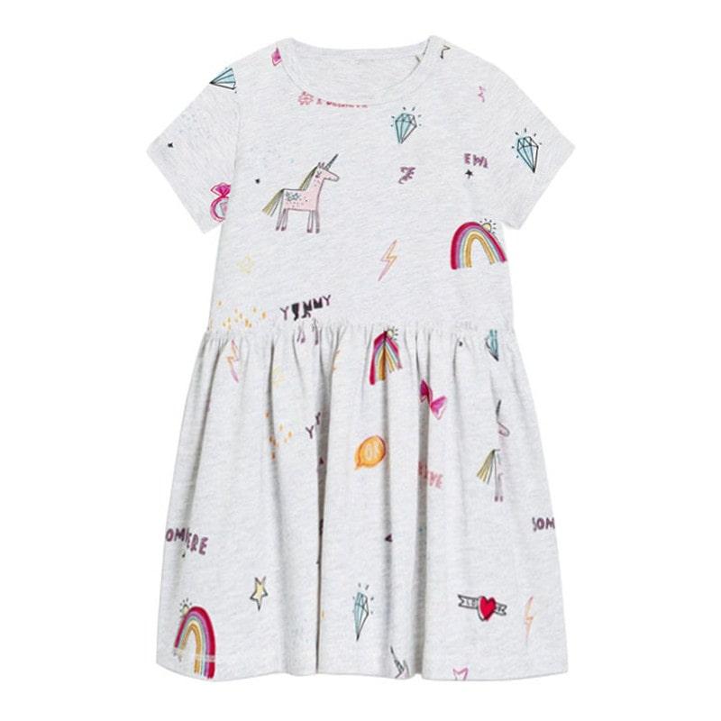 Платье для девочки радуга на лето