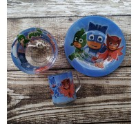Набор детской посуды Disney PJMASKS 3 предмета