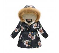 Демисезонная куртка для девочки Белые лепестки