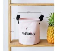 Корзина для игрушек, белья, хранения Фламинго