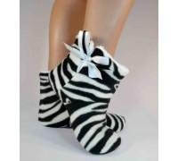 Домашние тапочки угги Zebra Slivki