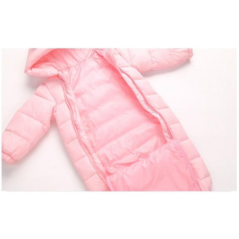 Комбинезон демисезонный для девочки Счастливый мишка, розовый