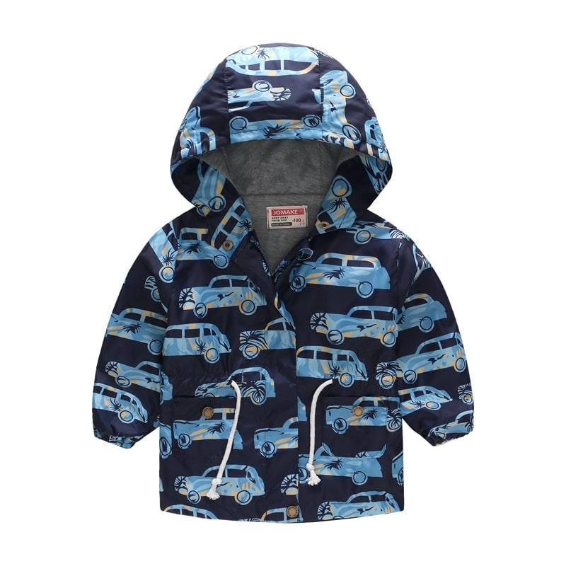 Куртка-ветровка для мальчика Машина в пальмах