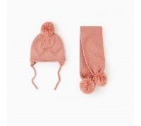 Шапка + шарф для девочки зимняя Блеск