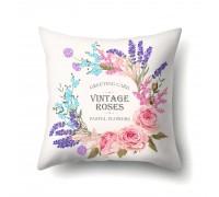 Подушка декоративная Пастельные цветы 45 х 45 см