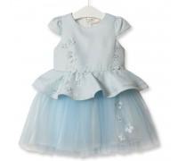 Платье для девочки Симфония цветов, голубой