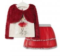 Комплект для девочки 3 в 1 Pretty girl, красный