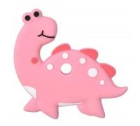 Прорезыватель Апатозавр, розовый