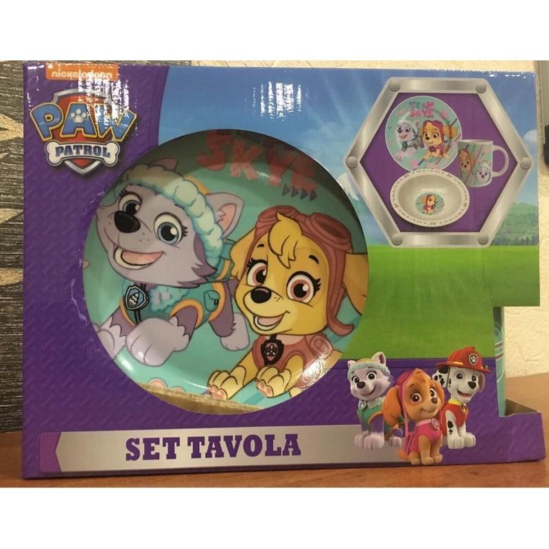 фото Набор детской посуды paw patrol девочке