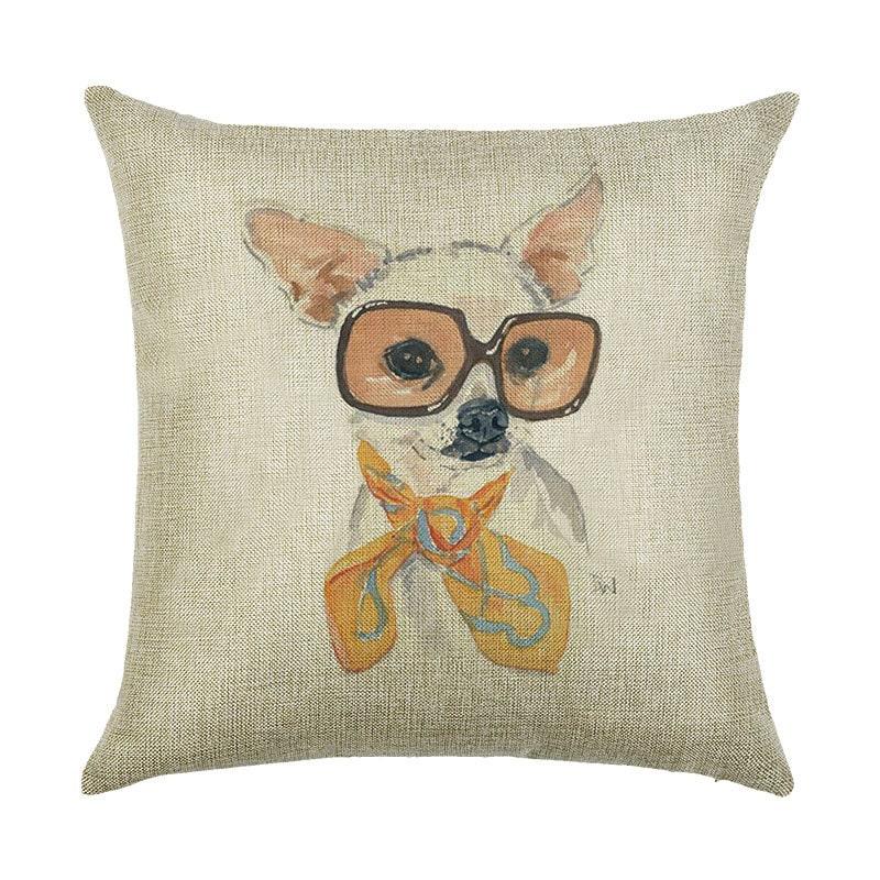 Наволочка декоративная Собака в очках