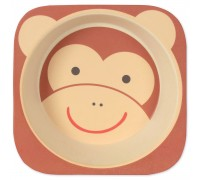 Тарелка из бамбукового волокна Мартышка