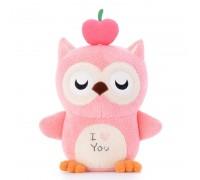 Мягкая игрушка Волшебная розовая сова, 20 см