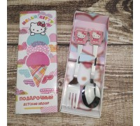 Набор вилка и ложка UNIQUE Hello Kitty