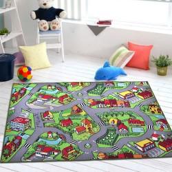 Коврик для детской комнаты Карта города 150 х 200 см