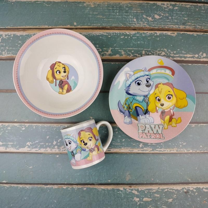 фото дитячий посуд paw patrol дівчинці