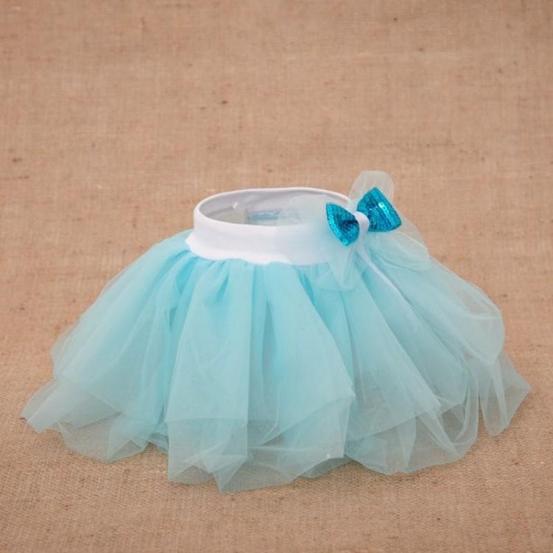 изображение Нарядный костюм для девочки с юбкой