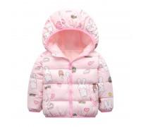 Куртка для девочки Зайчик и сладости, розовый