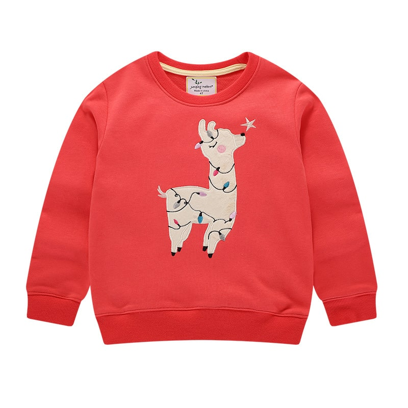 Кофта детская Праздничная лама