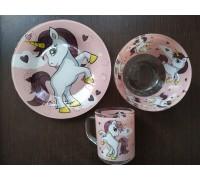 Набор детской посуды UNICORNS Интерос 3 предмета