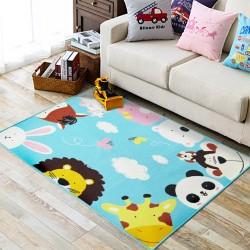 Коврик для детской комнаты Добрые зверята 100 х 130 см