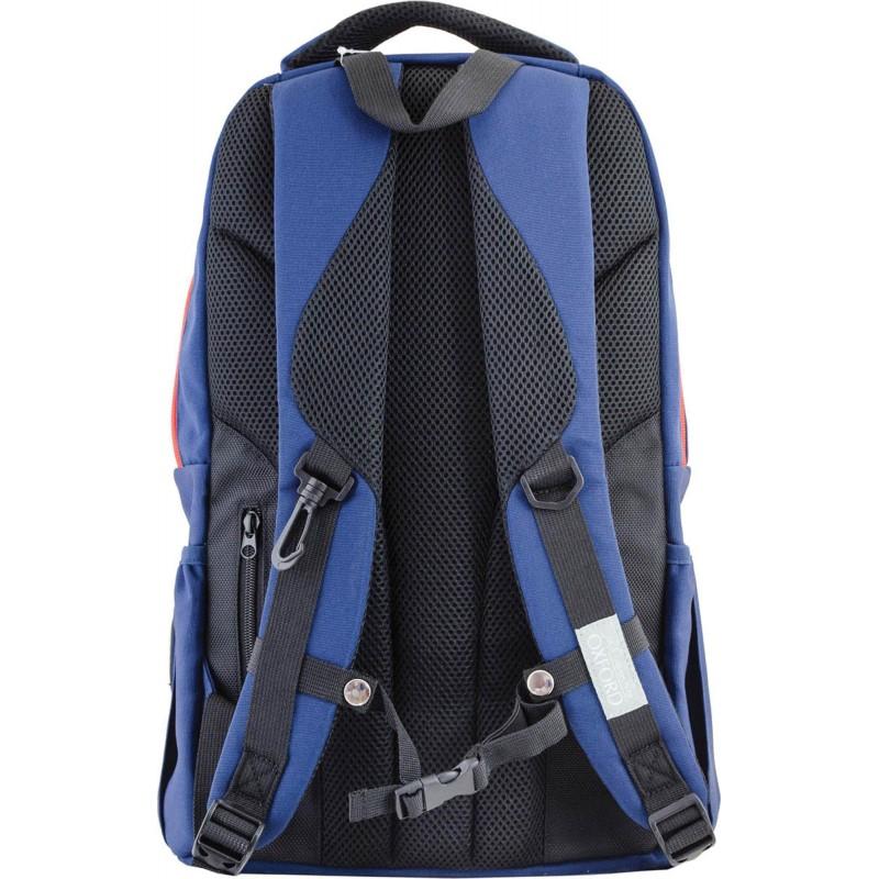 Рюкзак подростковый сине-оранжевый
