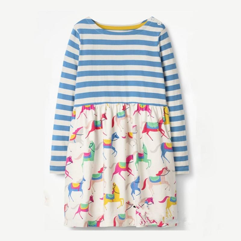 Платье для девочки Лошадки