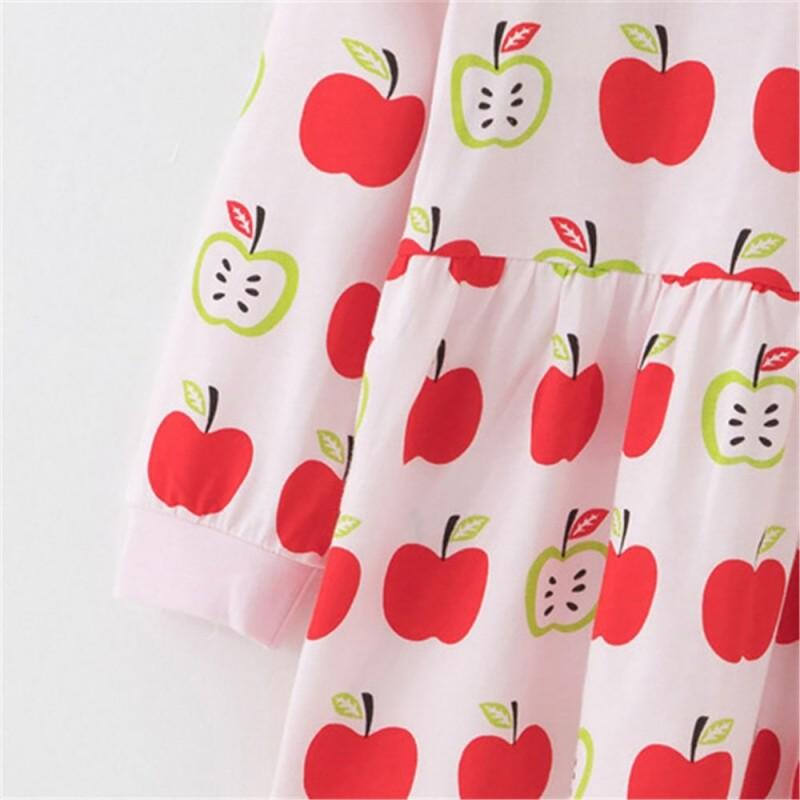 Платье для девочки Яблочки, розовый