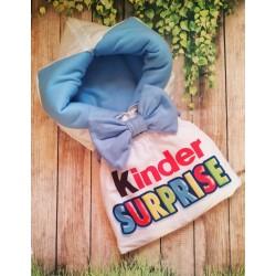 Конверт на выписку Kinder голубой фото