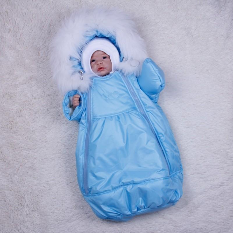 фото детский зимний комбинезон-мешок G