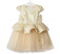 Платье для девочки Симфония цветов, бежевый