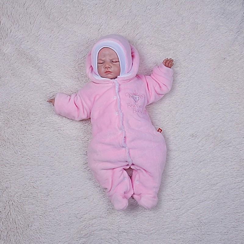 Комбинезон новорожденному розовый